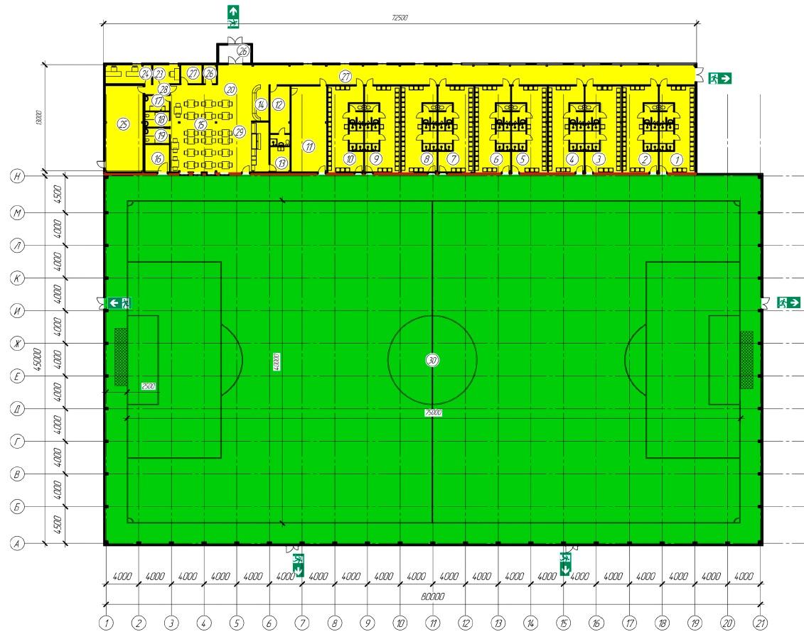 Строительство футбольного манежа под ключ